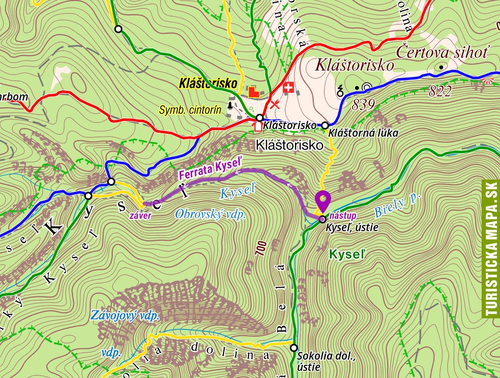 Ferrata Ferrata Kyseľ V Slovenskom Raji Mapa A Video Hiking Sk