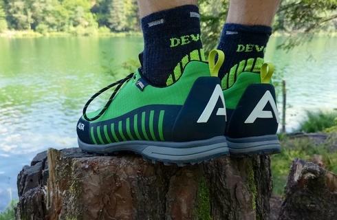0faca662c838 Recenzia Alfa Knaus Advance – turistické polovičky do lesa Nízke turistické  topánky orientované na lesné a lúčne terény s tuhšou podrážkou