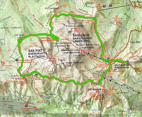 Svet Dolomity Okolo Sassolungo A Sassopiatto Hiking Sk