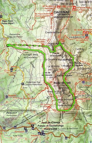 Svet Dolomity Rosengarten Catinaccio Hiking Sk