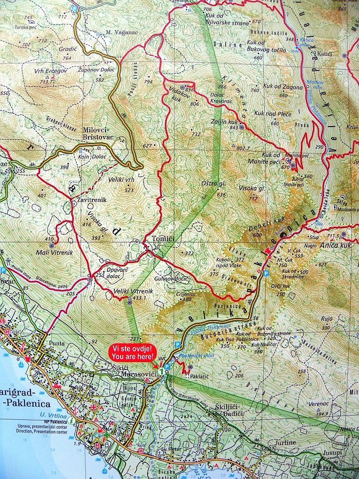 7 Krndija Chorvatsko Turisticka Mapa 1 25t Kralovstvi Map